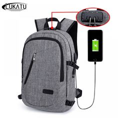 Password Lock Anti Theft USB Charging Backpack at amadola Best Travel Backpack, Men's Backpack, Travel Luggage, Luggage Bags, Travel Bags, Cute Backpacks For Traveling, Cool Backpacks, Travel Store, Vacation Travel
