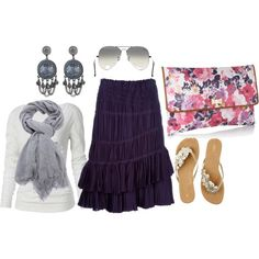 Purple and Grey, created by kayleigh-dangelo on Polyvore