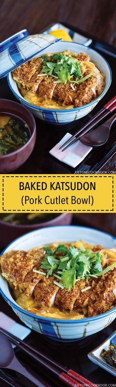 Baked Katsudon 揚げないカツ丼   Easy Japanese Recipes at JustOneCookbook.com