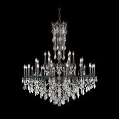 "Rosalia 48"" Crystal Foyer Pendant Chandelier with 32 Lights"