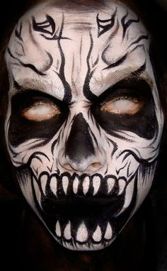 scary face paint #Painted Body #Painting Body  http://painted-body-alexandre.blogspot.com