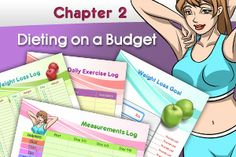 Helpful worksheet set for saving money when dieting or exercising.