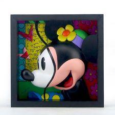 ✿ DISNEY Romero Britto Art Block Frame Deco Figurine Sweetie Pie Minnie Mouse