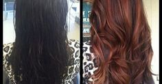 The Before and After. What do you think? Dark Brown or Copper? Hair color. Hair colors for brown brunette hair. Highlights. Beautiful. Hair envy!!
