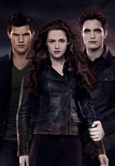 """Summit just released this awesome new promo artwork featuring Edward, Bella and Jacob from the upcoming film """"The Twilight Saga: Breaking Dawn"""" featuring Twilight Jacob, Twilight Poster, Twilight Saga Books, Vampire Twilight, Twilight Saga Series, Twilight Edward, Twilight Cast, Twilight New Moon, Twilight Pictures"""