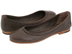 Frye Carson Ballet Dark Brown Leather - Zappos.com Free Shipping BOTH Ways