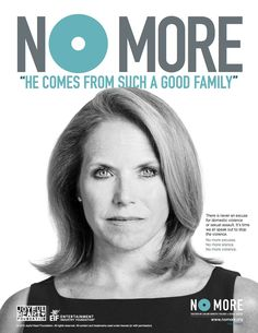 No More Print Ads - so many great options you can't just pick one. Over 50 celebrities joined together in this endeavor to end domestic violence and sexual assault.