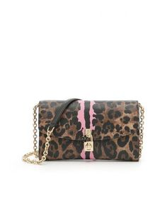 DOLCE & GABBANA Textured Leather Leopard Print Dolce Clutch. #dolcegabbana #bags #leather #clutch #shoulder bags #lining #hand bags #cotton #