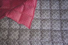 Cotton Quatrefoil Weighted Lap Pad by ThreeHighChairs on Etsy