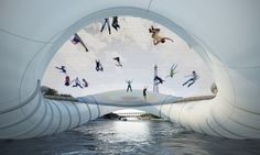 Instead of crossing bridges by walking or by riding a car, why can't we bounce or flip our way across instead? This is what architecture firm AZC had in mind when they submitted a proposal to build an inflatable trampoline bridge for pedestrians to cross the Seine. The structure involves three inflatable doughnut-like rings with […]