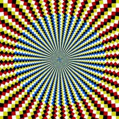movement illusion in op art Cool Optical Illusions, Art Optical, Illusion Kunst, Illusion Art, Fibonacci Spiral, Magic Eyes, Psychedelic Art, Fractal Art, Trippy