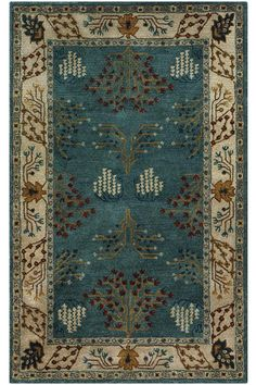 """$1499.  9'6"""" x 13'9""""Grasse Area Rug - Rugs - Traditional Rugs - Transitional Rugs - Border Rugs - Floral Rugs - Cottage Rugs   HomeDecorators.com"""