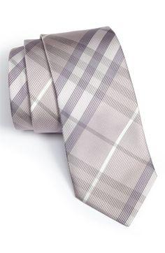 Burberry Check Woven Silk Tie $145.00