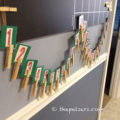 I made a simple homemade advent calendar to go with our journey through Truth in the Tinsel. Christmas Crafts For Toddlers, 25 Days Of Christmas, Christmas Countdown, Little Christmas, Winter Christmas, Holiday Crafts, Crafts For Kids, Christmas Ideas, Christmas Decorations