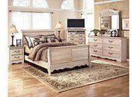 For Guest Bedroom: Silverglade Sleigh Bedroom Set, Ashley Furniture