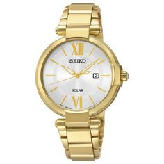 SUT158P Seiko Ladies Watch - 3 Year Guarantee - Free Delivery - 30 Metres - Solar Powered - Date