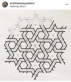 Islamic Art Pattern, Arabic Pattern, Geometry Pattern, Geometry Art, Pattern Art, Pattern Design, Geometric Drawing, Geometric Star, Geometric Designs