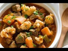 Slow cooked so that the meat is tender. Casserole, Lamb, Slow Cooker, Make It Yourself, Ethnic Recipes, Youtube, Beautiful, Food, Casseroles