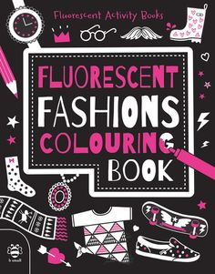 Nieuwe variant op de oh zo populaire kleurboeken: neon colouring books - black, white and neon!