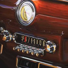 Vintage Car Radio by Jon Davatz Photo
