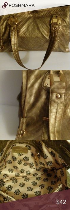 Jessica Simpson Excellent condition. Beautiful shade of gold. 5 wide. 11 height Jessica Simpson Bags Shoulder Bags