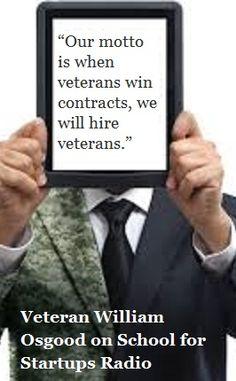 William Osgood on Programs to help #Veteran #Entrepreneurs get started!