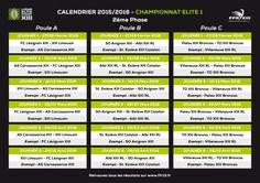Rugby à XII : le calendrier de la seconde phase dévoilé