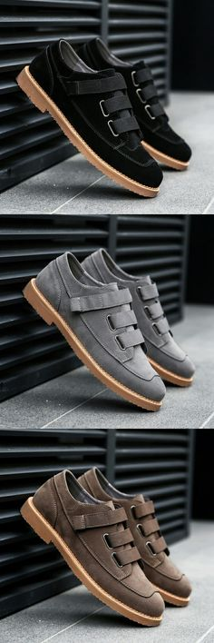 $27.48 <Click to buy> Minimalist Design Suede Leather Mens Leisure Flat Shoes