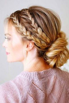 Amazing Braid Hairstyles for Party and Holidays ★ See more: http://glaminati.com/christmas-party-braid-hairstyles/