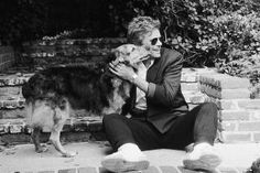 Richard Dean Anderson and his dog