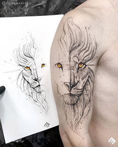 Lion Forearm Tattoos, Lion Head Tattoos, Leg Tattoos, Body Art Tattoos, Sleeve Tattoos, Tattos, Circle Tattoo Design, Lion Tattoo Design, Sketch Tattoo Design
