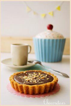 Tartaleta de avellanas, toffee y Nutella - Pecados de Reposteria