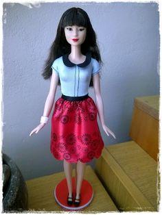 Barbie Fashionistas Doll 19 Ruby Red Floral