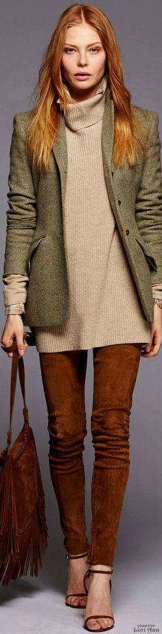 Fall 2016 Ready-to-Wear Polo Ralph Lauren women fashion outfit clothing style apparel closet ideas Fashion Moda, Fashion Week, Fashion Show, Women's Fashion, Polo Ralph Lauren, Ralph Lauren Style, Legging Outfits, Estilo Folk, Moda Boho