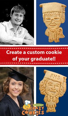 Create a custom cookie of your graduate and have a graduation party your daughter or son will never forget! Discovery the magic at www.parkerscrazycookies.com. As seen on the Food Network!
