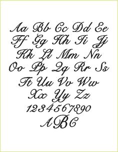 Fancy Script Alphabet Uppercase and Lowercase | Cool Alphabet ...