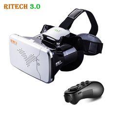 08bb85a2f649 RITECH III VR Virtual Reality 3D Glasses Headset Head Mount VRBOX Max  Cardboard Movie Game +