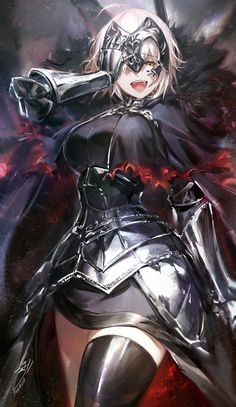 Joan Alter - Joan of Arc (Fate/Apocrypha) - Image - Zerochan Anime Image Board Fantasy Characters, Female Characters, Anime Characters, Anime Fantasy, Fantasy Girl, Fantasy Demon, Anime Art Girl, Manga Art, Sucubus Anime