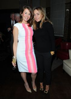Jeanne Marine and Sara Madderson wearing Madderson London's Erica dress from the SS14 RTW collection