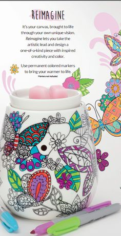 Scentsy March 2016 Warmer Of The Month Reimagine Pink Tulips Scent