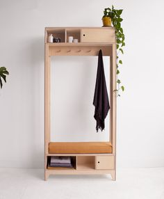 Our PILLAR hanger is ideal for small entryway - Furniture Bench Furniture, Plywood Furniture, Furniture Making, Home Furniture, Furniture Design, Furniture Storage, Furniture Plans, Plywood Interior, Entryway Furniture