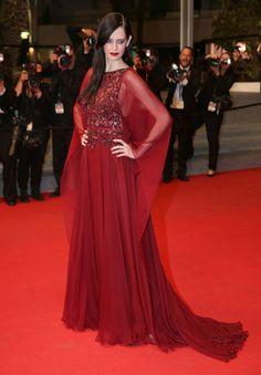 Eva Green en robe Elie Saab haute couture automne-hiver 2013-2014