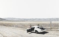 Whatever We Want, a Majestic Scene (Death Valley Lunch Break) pencil on paper 37.5 x 50 cm