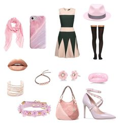 """""""Outfits by Colour #1 - Pink"""" by ryann-the-ravenclaw on Polyvore featuring Raoul, Wolford, Huda Beauty, Irene Neuwirth, Alexis Bittar, Monica Vinader, Valentino, Recover, Borsalino and Fendi"""