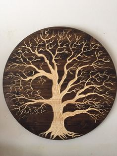 LARGE oak tree of life across wood carved wall art Holzschnitzen , LARGE oak tree of life across wood carved wall art LARGE oak tree of life across wood carved wall art. Metal Tree Wall Art, Metal Art, Wood Art, Carved Wood Wall Art, Art Carved, Tree Of Life Artwork, Wood Burning Art, Dark Walnut Stain, Oak Tree