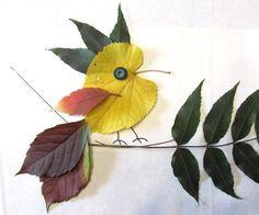 Клуб рукоделия Autumn Crafts, Autumn Art, Nature Crafts, Leaf Crafts, Flower Crafts, Art Drawings For Kids, Art For Kids, Dry Leaf Art, Pressed Flower Art