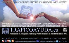 Ayudamos a las víctimas de accidentes de tráfico