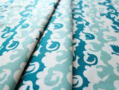 birch fabrics Ipanema Birds and Clouds Blue