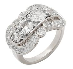 Believe by Kristian Alfonso Lasting Love 3.50ct White Topaz Sterling Silver Ring