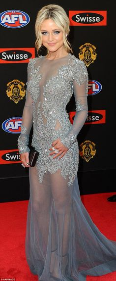Show-stopper: Model and blogger Jessie Habermann wore a $26,000 bejewelled dress to the Br...